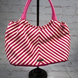 Kate Spade satchel bag. Pink white stripe.